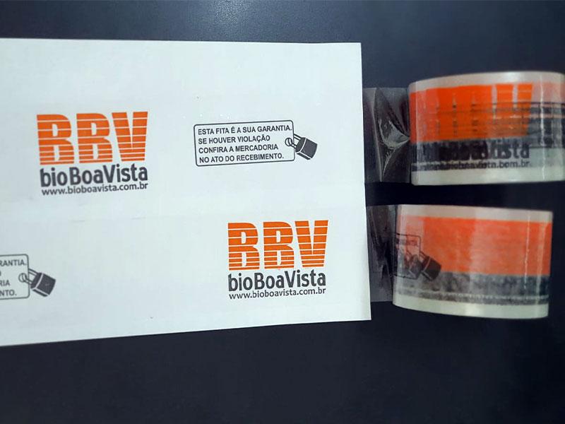 Fitas adesivas impressas e transparentes